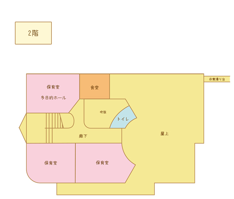 真行保育園 間取り図 2階